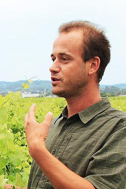 フレシア兄弟の弟ロマン。ディオニーでも人気のビオワインの造り手である。